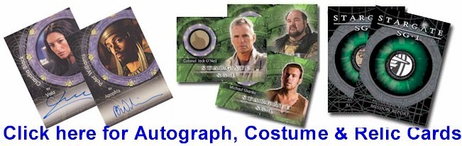 Click here for Stargate Season 8 Autograph, Costume and Relic Cards